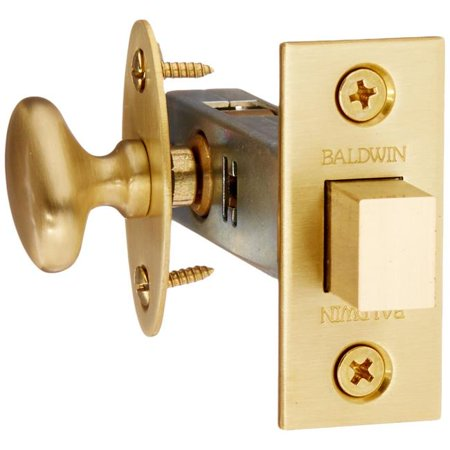 Baldwin 419040 Mortise Door Bolt, Satin Brass