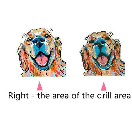 Electronicheart 5D Rhinestone Color Pug Dog Painting DIY Cartoon Animals Crafts Resin Needlework Crystal Cross Stitch - image 7 of 8