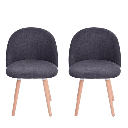 snorda 2PC Velvet Dining Chairs For Living Room Modern Side Mid Century Chairs