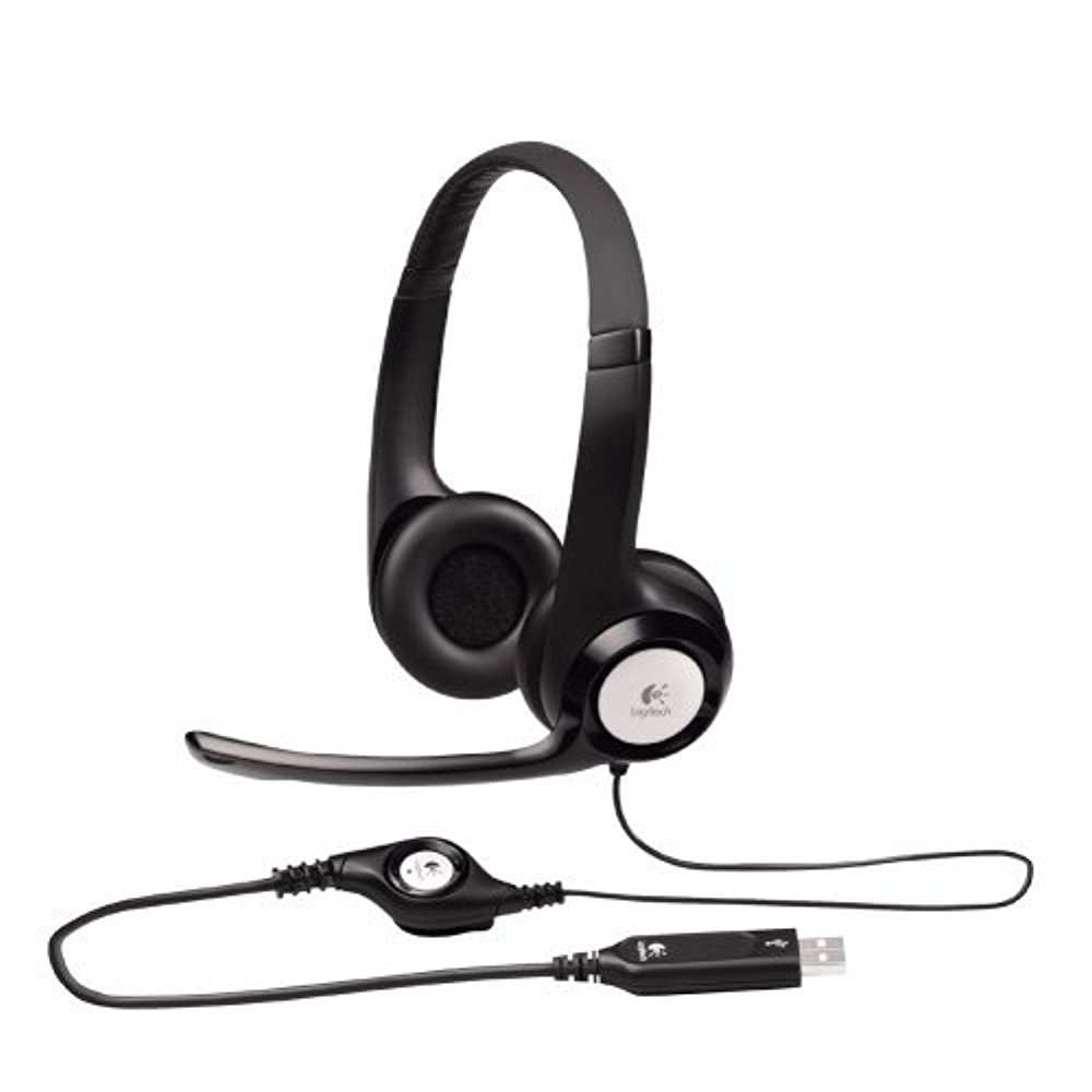 Logitech USB Headset H390 with Noise Cancelling Mic - Case of 16