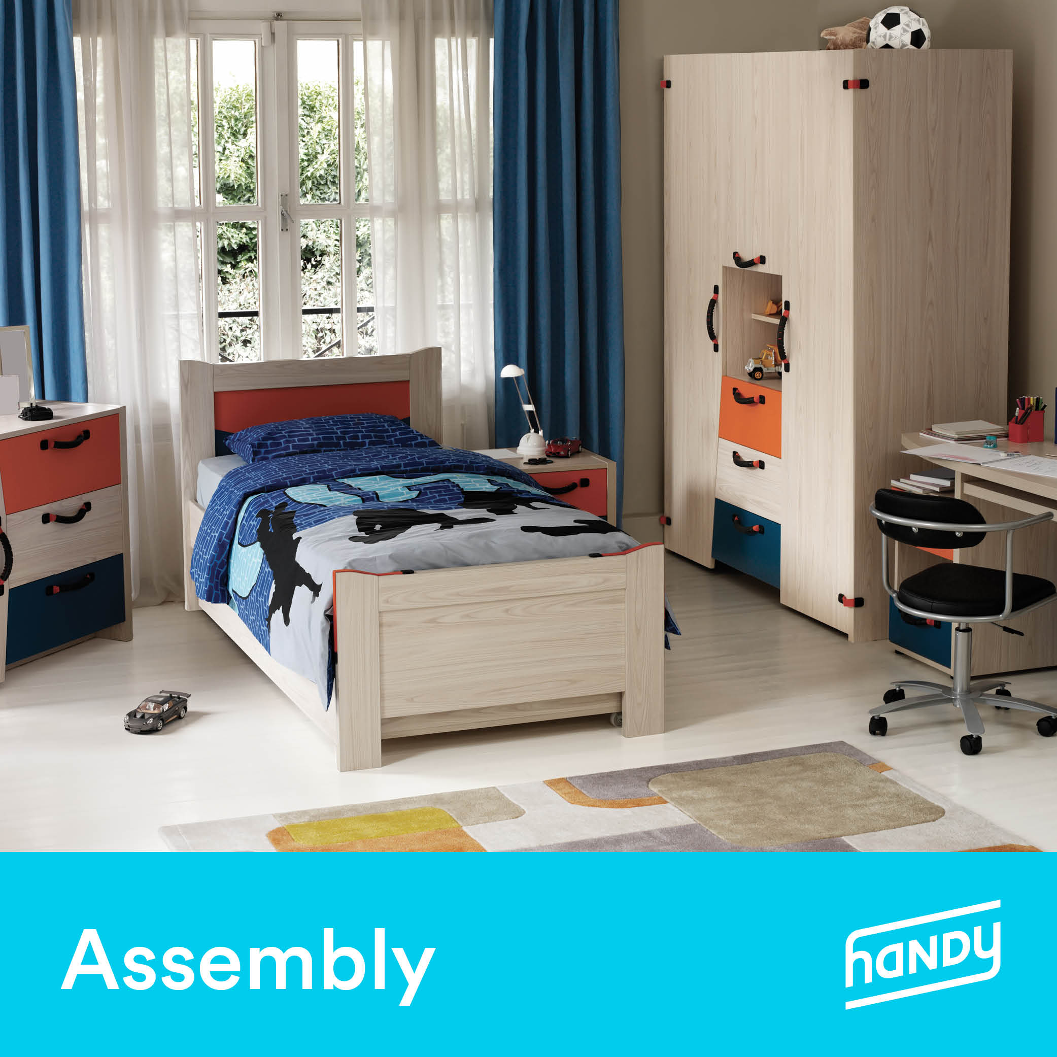 Kids' Bedroom Set Assembly by Handy