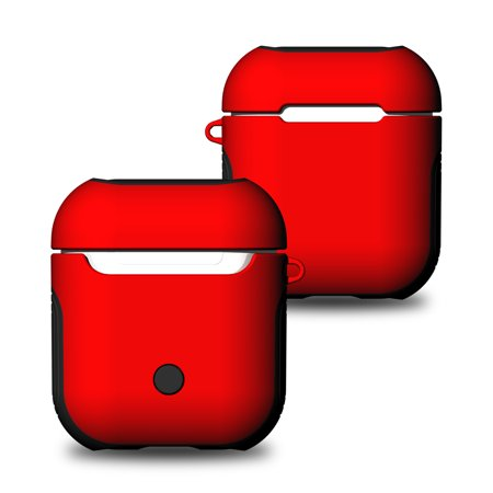 b27fb0acafe Dteck AirPods Case Protective Silicone Cover For Apple Airpods Charging Case  - Red - Walmart.com