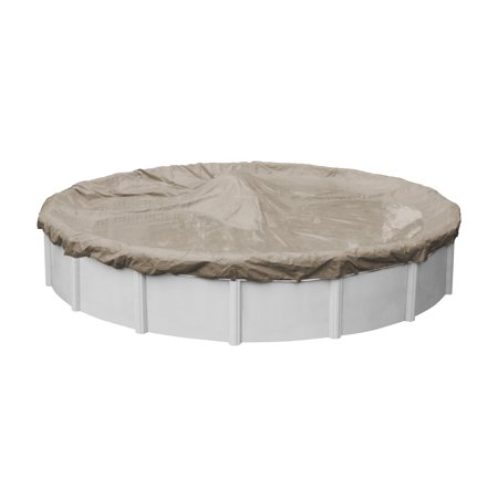 Pool Mate 12 Year Extra Heavy-Duty Sandstone Round Winter Pool Cover, 30 ft. Pool Strength Winter Pool Cover