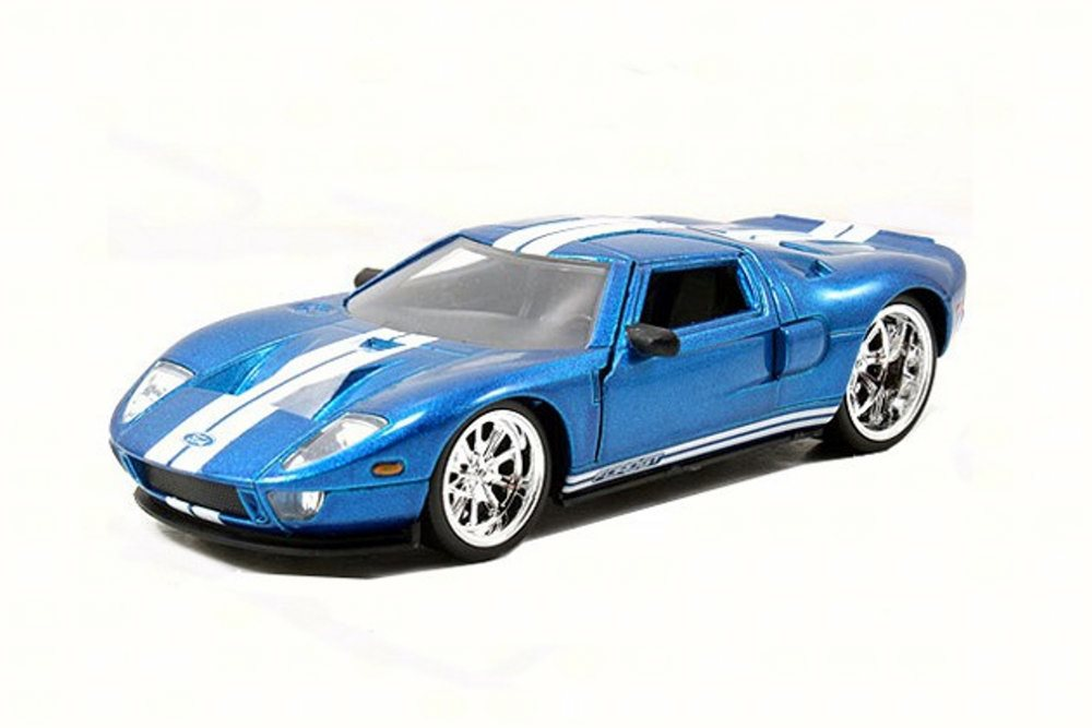 Ford Gt Blue With White Stripes Jada Toys
