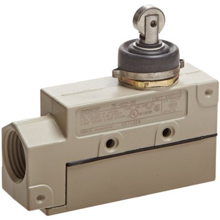 - Omron ZE-N22-2S General Purpose Enclose Switch, High Breaking Capacity and Durability, Sealed Roller Plunger, Single Pole Double Throw AC, Side Mounting, 1/2-14NPSM Conduit Size