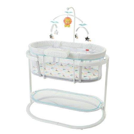 Fisher-Price Soothing Motions Bassinet with Dual-Mode (Baby Boy Cradle)