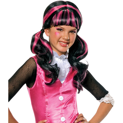 Monster Draculaura Stein Child Halloween Costume Wig - One Size