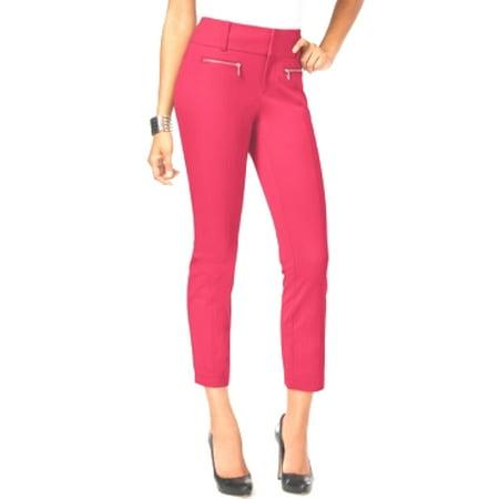 INC International Concepts Petite Zip-Pocket Cropped Pants Size 8P