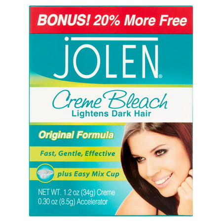 Jolen Creme Bleach lightens dark hair quickly and gently, 1.2 Oz (Bleaching Cream)