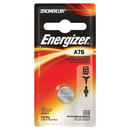 5 Pack Energizer Watch/Electronic Battery, Alkaline, A76, 1.5V, Mercury Free
