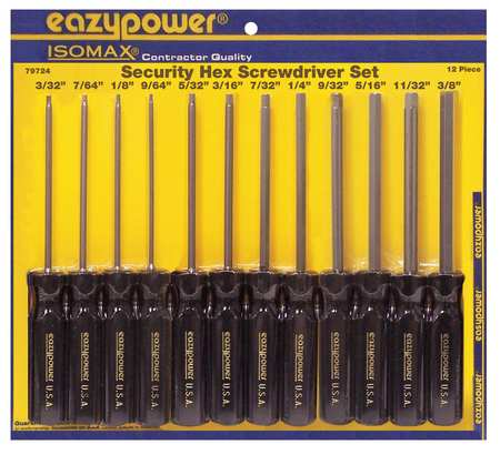Eazypower Security Screwdriver Set, 79724