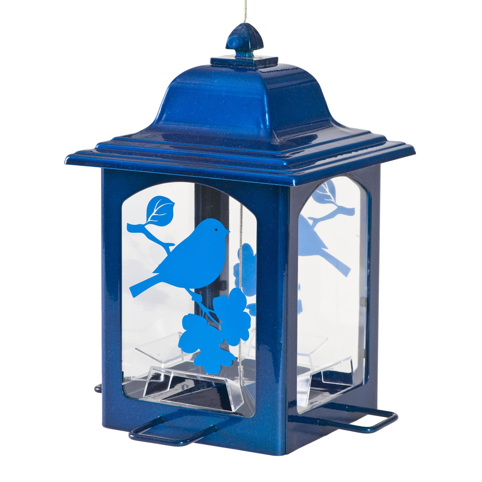 Perky-Pet Blue Sparkle Lantern Wild Birdfeeder by Perky-Pet