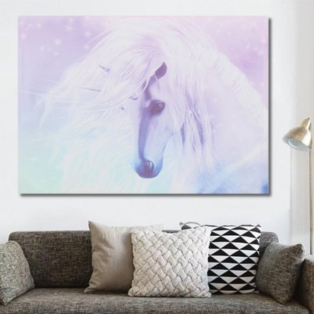 Unicorn Canvas Print Art Painting Wall Picture Home Kids Room Decor Cartoon