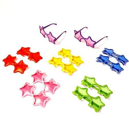 Dazzling Toys Star Shaped Sunglasses - Pack of 12 (D143)](Star Shaped Sunglasses)