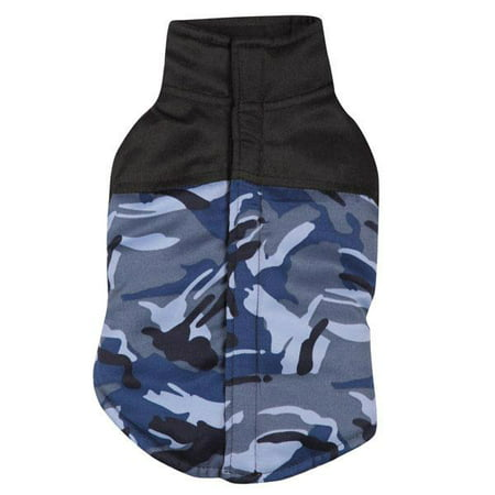 2f6caef33b8f8 Casual Canine Fleece Lined Camo Barn Coat Dog Jacket BLUE CAMO - Walmart.com