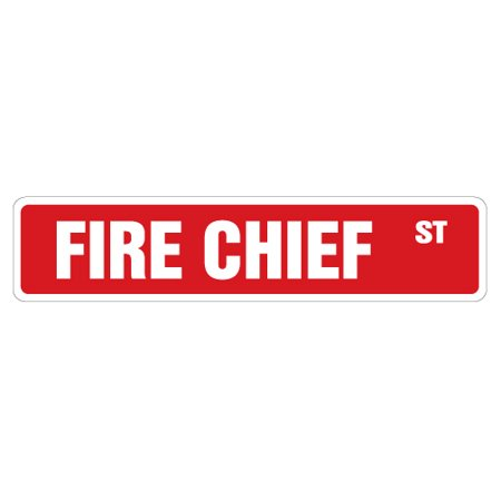 "FIRE CHIEF Street Sign station fighter department house engine | Indoor/Outdoor |  24"" Wide"