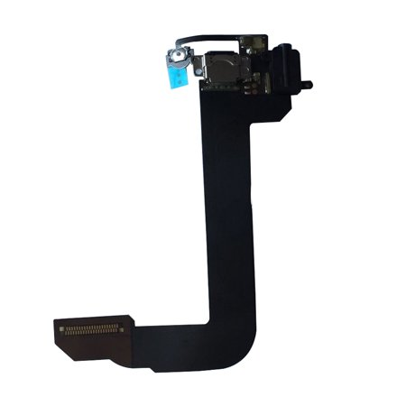 Black USB Charge Port Flex Cable Headphone Jack Dock Connector for iPod Touch 6 (Ipod Dock Lightning Connector)