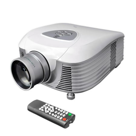 61 Inch Screen Support - PYLE PRJLE55 - LED Widescreen Projector, 1080p Support, HDMI Input, up to 100-Inch Viewing Screen