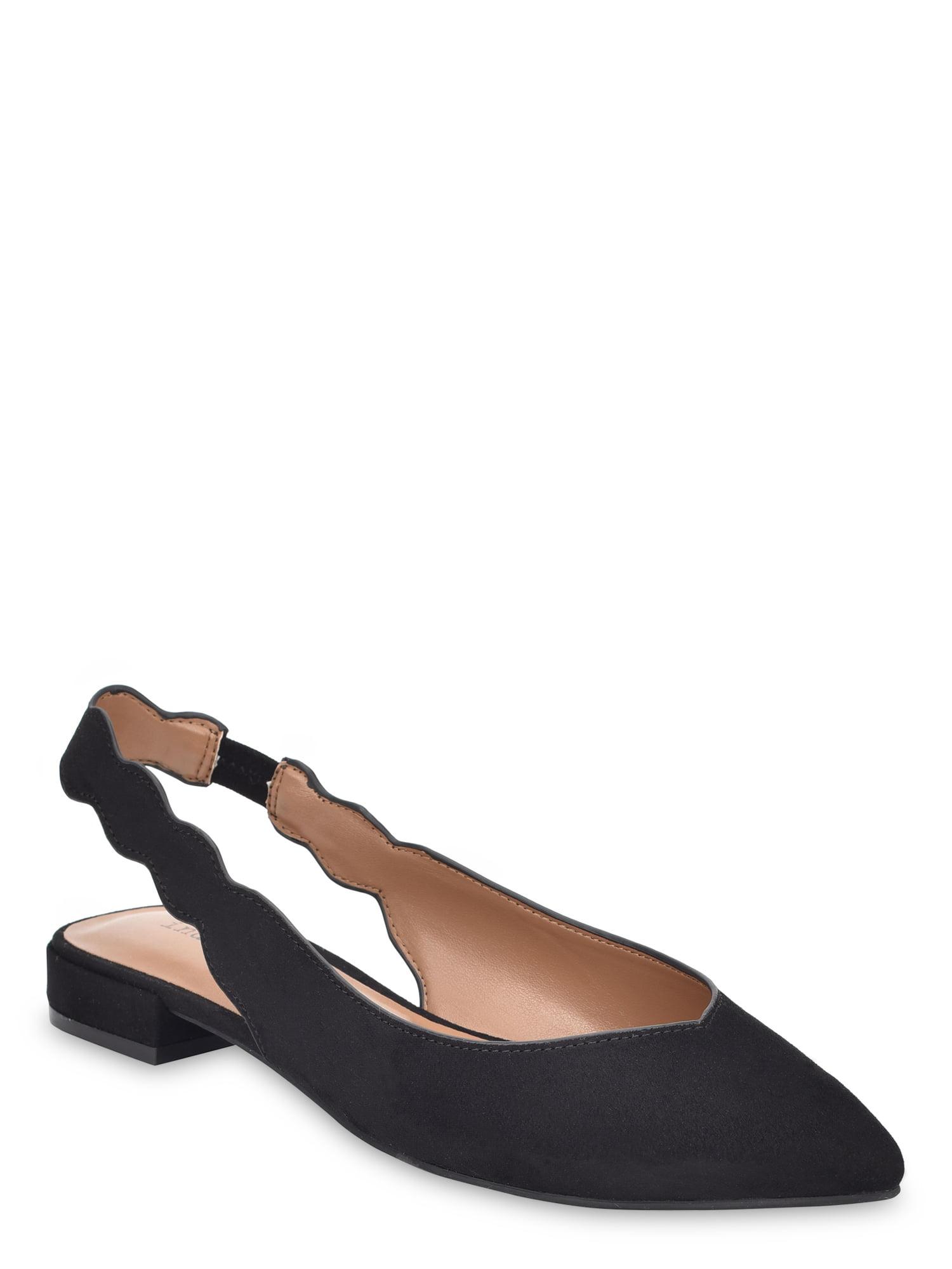 Indigo Rd. Black Gabrie Scalloped Slip