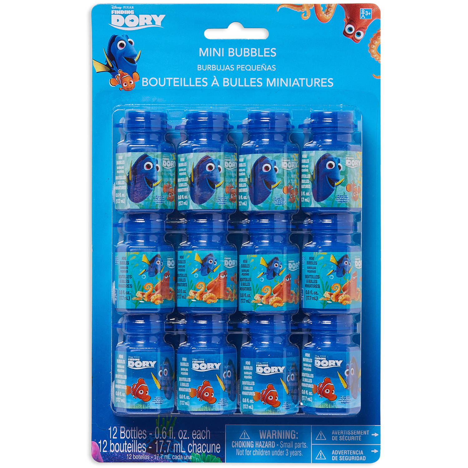 Disney Finding Dory Mini Bubbles, 12 Count, Party Supplies