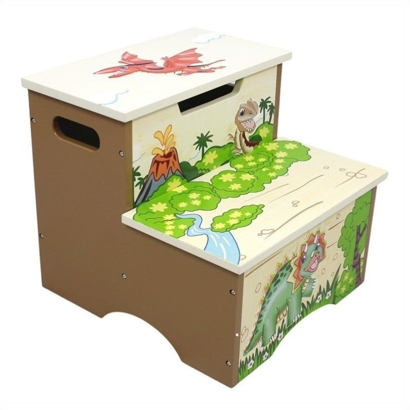 Fantasy Fields Dinosaur Kingdom Step Stool by Teamson