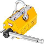 VEVOR Magnetic Lifter 880LBS Capacity, 400KG Steel Lifting Magnet , Permanent Magnetic Lift Hoist Shop Crane with Handle, Heavy Duty Metal Lifting Magnet for Material Lifting Equipment in Yellow