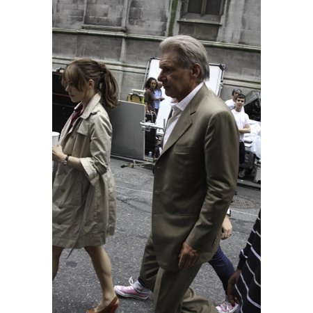 Harrison Ford and Rachel McAdams on set of Morning Glory Photo