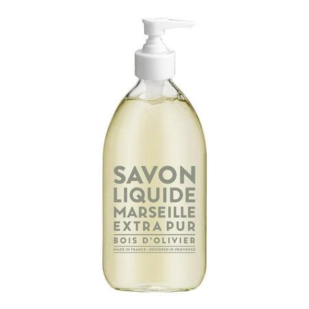 Compagnie de Provence Olive Wood Liquid Marseille Soap 16.9 oz Glass Bottle