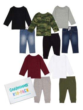 Garanimals Baby Boy Basics Kid-Pack Gift Box, 10pc Set
