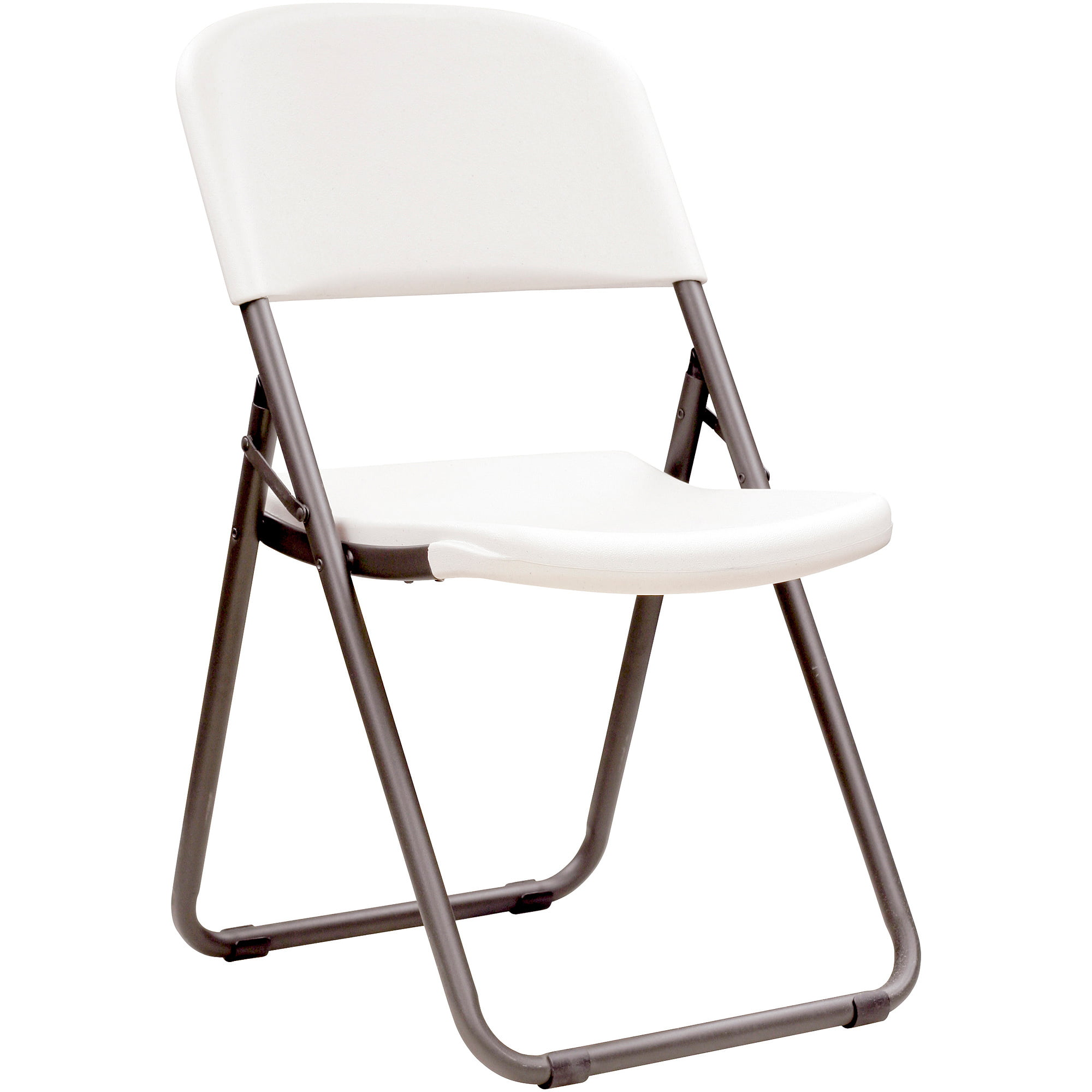 Lifetime Loop Leg Folding Chair Set of 4 White Granite Walmart