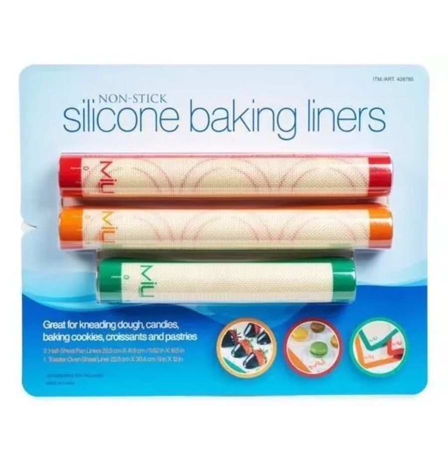 Miu Nonstick Silicone Baking Liners Set of 3