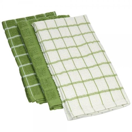 Ritz 100% Cotton Terry Kitchen Dish Towels, Highly Absorbent, 25†x 15†,  3-Pack, Cactus Green