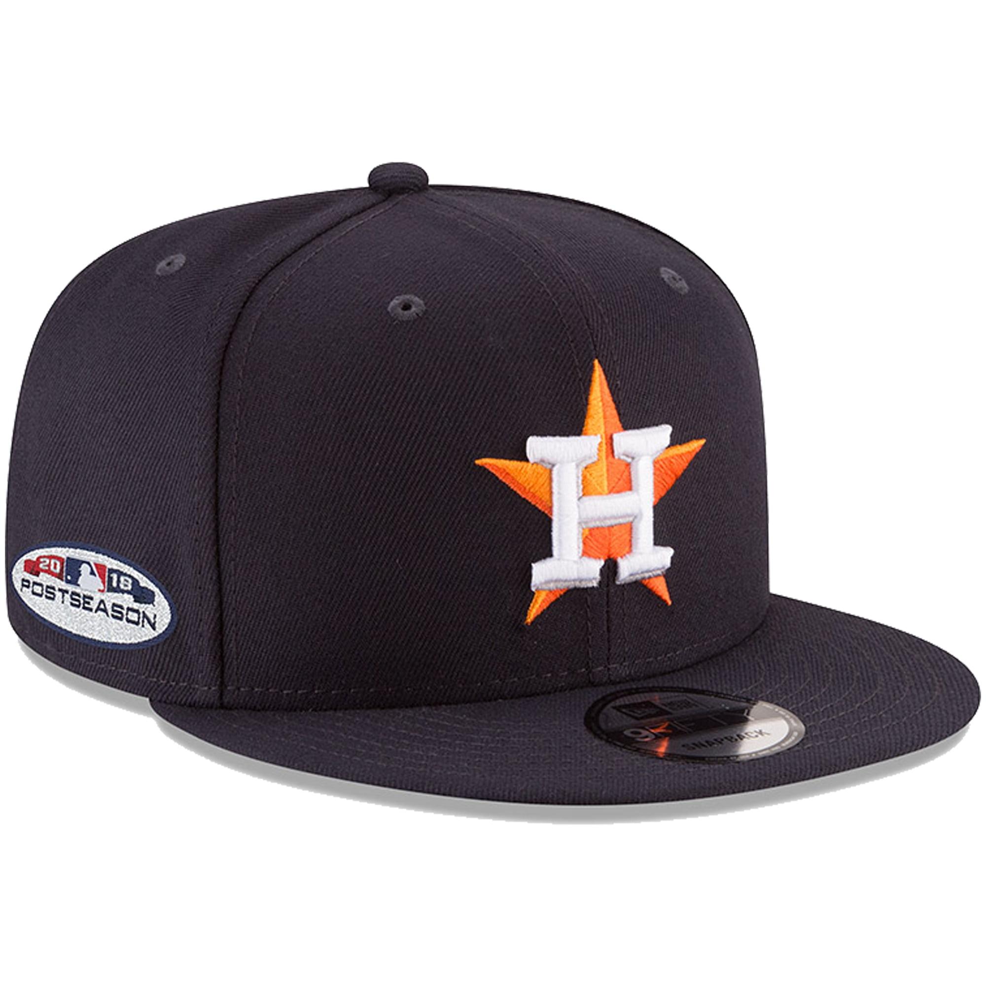 Houston Astros New Era 2018 Postseason Side Patch 9FIFTY Adjustable Hat - Navy - OSFA