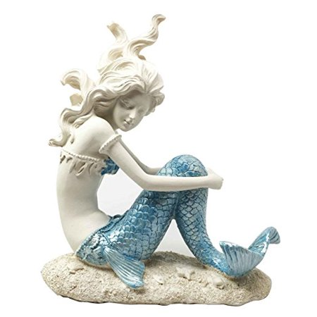 Beautiful Ocean Atlantis Goddess Lovesick Princess Mermaid Sitting Figurine Collectible Home Decor Sculpture