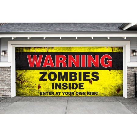 The Holiday Aisle Zombies Inside Halloween Garage Door Mural
