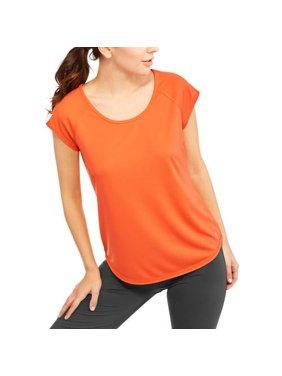Women's Short Sleeve Mesh T-Shirt with Open Back
