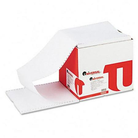 Universal Computer Paper-15802-- 20 9-1/2 x 11 - Lettre Garniture Dentelure-White-2400 feuilles - image 1 de 1