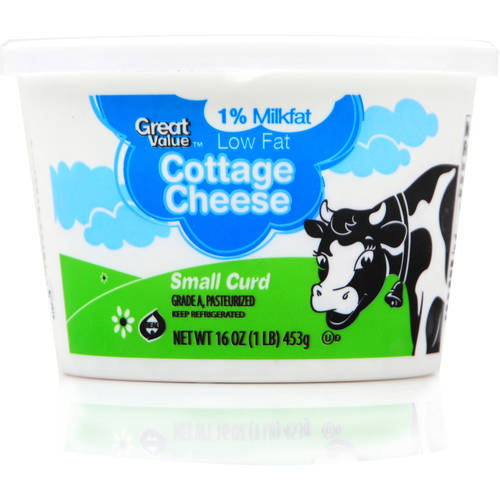 Great Value Lowfat Cottage Cheese, Small Curds, 16 Oz