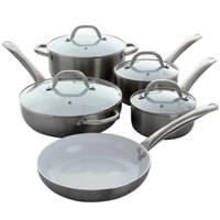 Oster Montecielo 9 Piece Cookware Set in Metallic Titanium