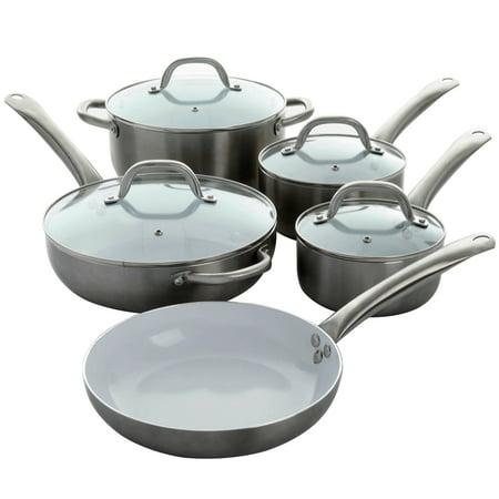 Oster Montecielo 9 Piece Cookware Set in Metallic
