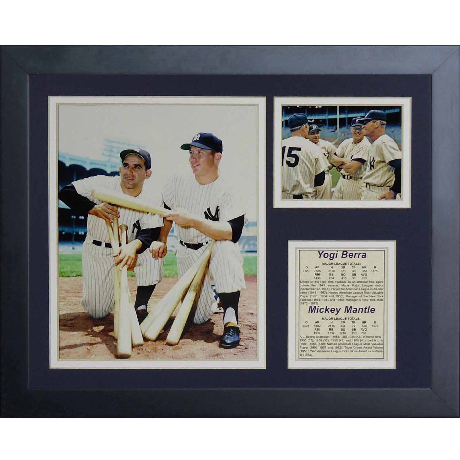 "Legends Never Die ""Yogi Berra Mickey Mantle"" Framed Photo Collage, 11"" x 14"""