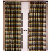 Room with a View Signature Pure Silk Dupioni Check Curtain Panel