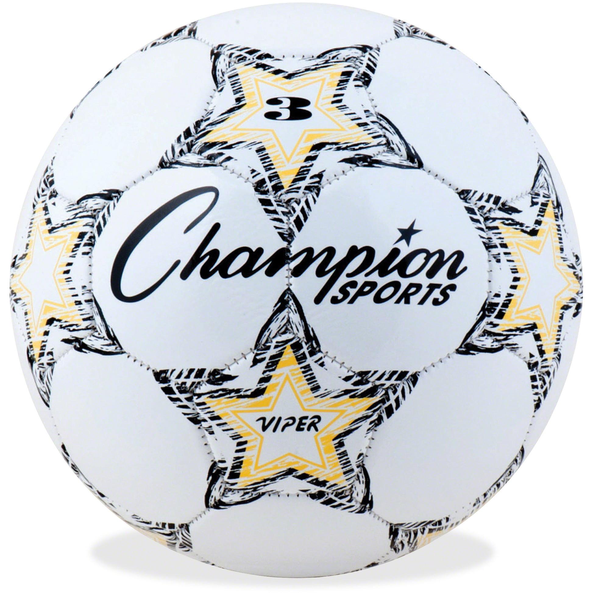 Champion Sport s Size 3 Viper Soccer Ball, White, Yellow, Black, 1 Each (Quantity)