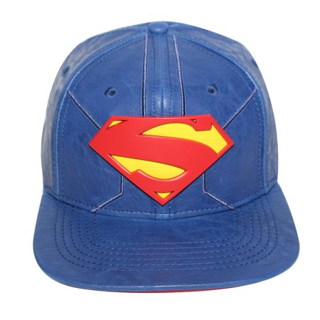 Bioworld Blue Licensed Superman PU Leather Snapback Hat - image 5 de 5
