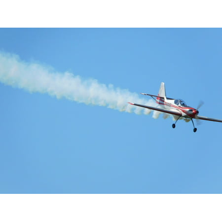 Canvas Print Plane Wake Acrobatic Sky Airplane Stretched Canvas 10 x 14