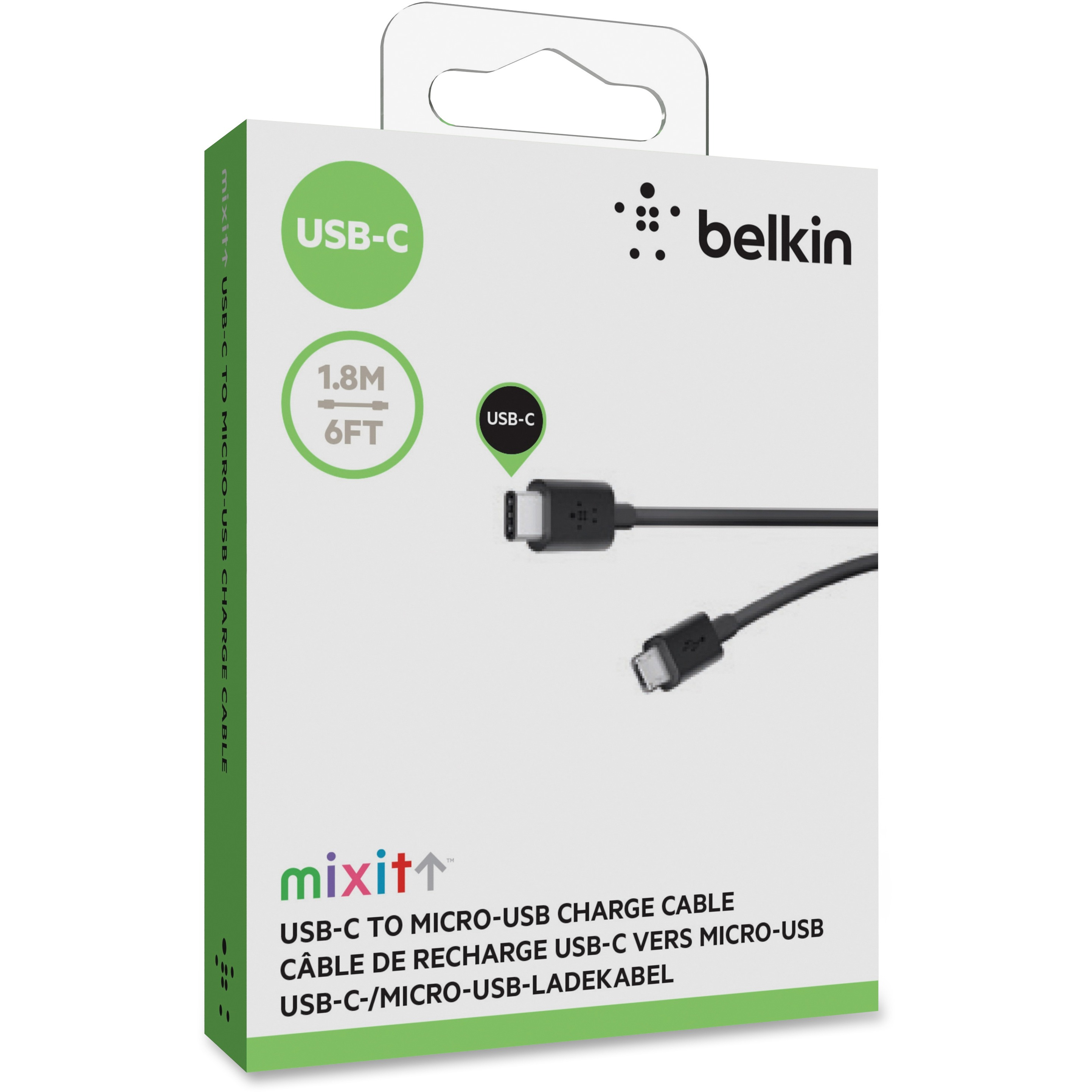 Belkin USB-C 2.0 to microUSB Charge and Sync Cable, 6\'