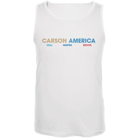 Election 2016 Ben Carson Heal Inspire Revive White Adult Tank Top ()