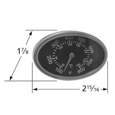 Grill Master Lid Thermometer Gas Grill Heat Indicator