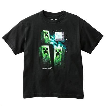 Minecraft - Three Creeper Moon Youth T-Shirt (Minecraft Creeper Hoodies)
