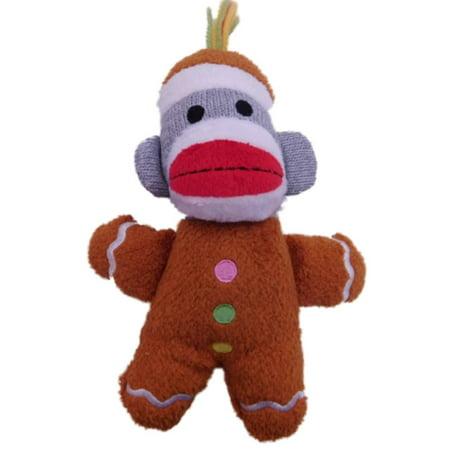 Sprout Mini - Sweet Sprouts Mini Sock Monkey Santa Stuffed Animal Pal